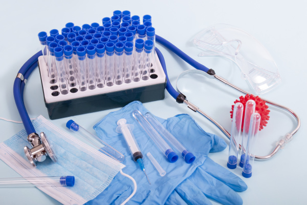 several laboratory objects for analysis