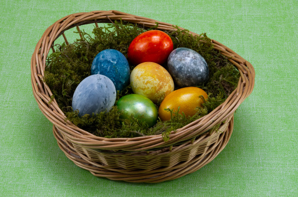 easter, , colored, painted, eggs, in, a - 28238147