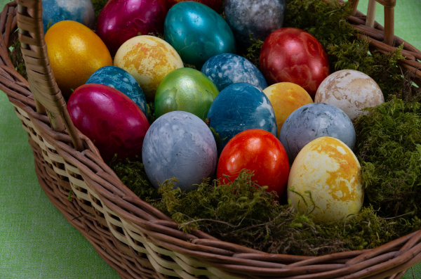 easter, , colored, painted, eggs, in, a - 28238194