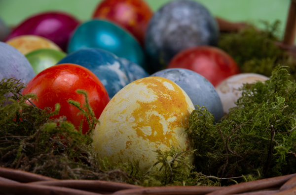 easter, , colored, painted, eggs, in - 28238041