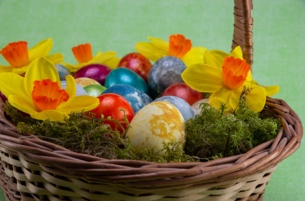 easter, , colored, painted, eggs, in - 28238085