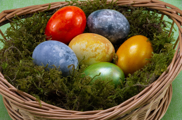easter, , colored, painted, eggs, in - 28238146