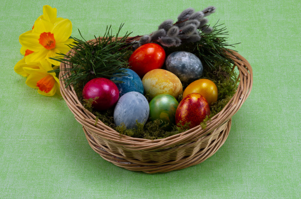 easter, , colored, painted, eggs, in - 28238193