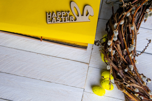 easter, concept, , yellow, notepad, with - 28238385