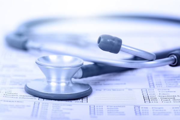 medical, history, with, stethoscope. - 28238377
