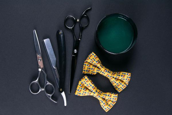 dangerous, razor, , shaving, gel, , haircut, scissors - 28239760