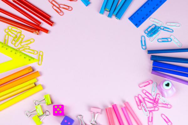multi, colored, pencils, rulers, , pens - 28239287