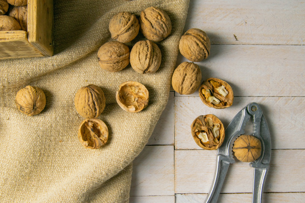 walnuts, in, a, wooden, box, , which - 28239913