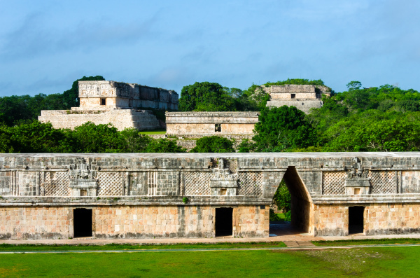 palace buildings of uxmal mexico