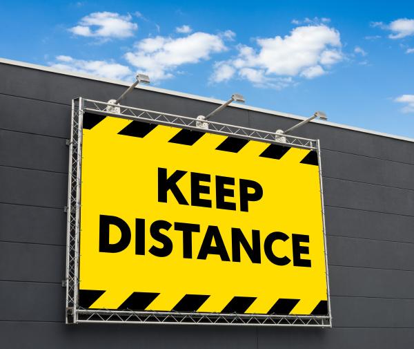 keep, distance, written, on, a, billboard - 28240038