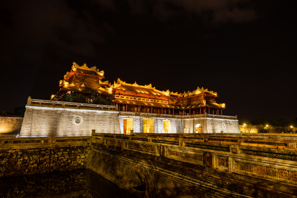 the imperial palace of hue in