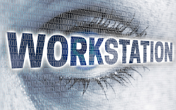 workstation eye with matrix looks at