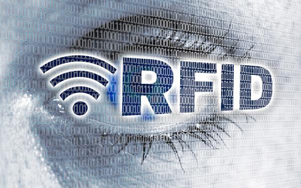 rfid eye with matrix looks at