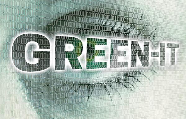 green it eye with matrix looks