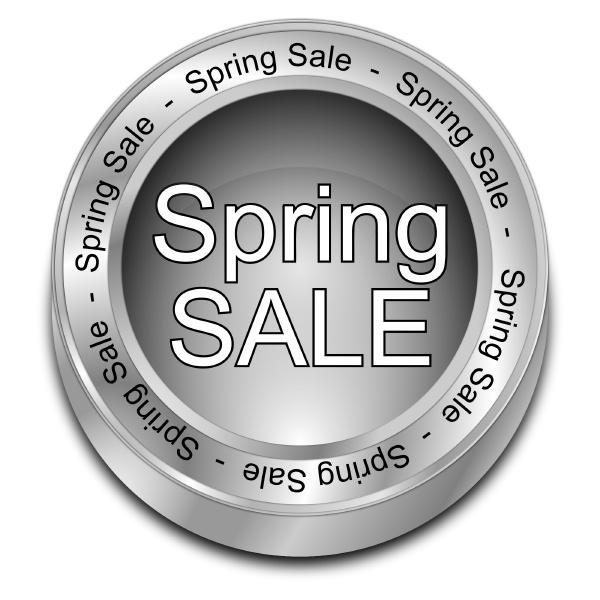 silver spring sale button 3d