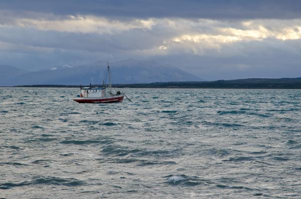 fishing boat in the ultima esperanza