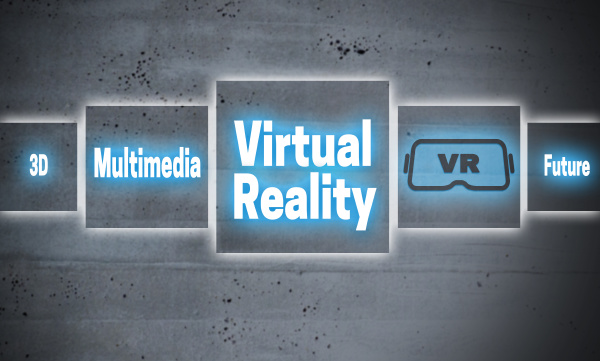 virtual reality touchscreen concept background