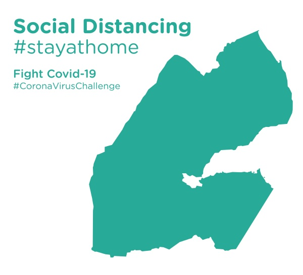 djibouti map with social distancing stayathome
