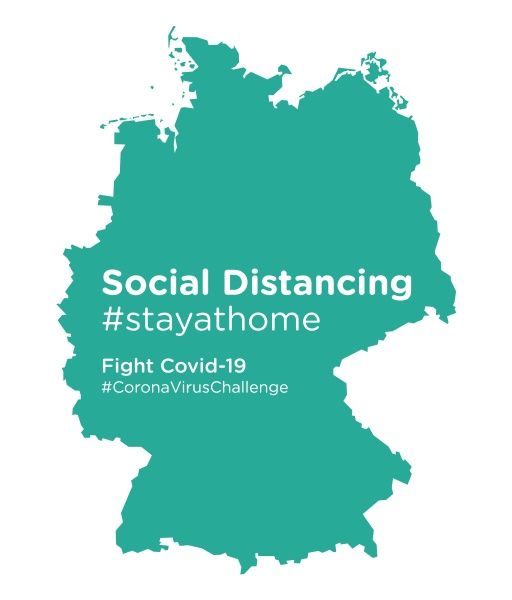 germany, map, with, social, distancing, #stayathome - 28258855