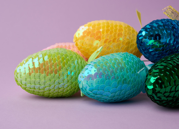 multicolored, decorative, easter, eggs, decorated, with - 28258381