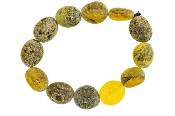amber bracelet in a closeup cut