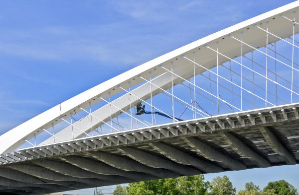 modern troja bridge in prague
