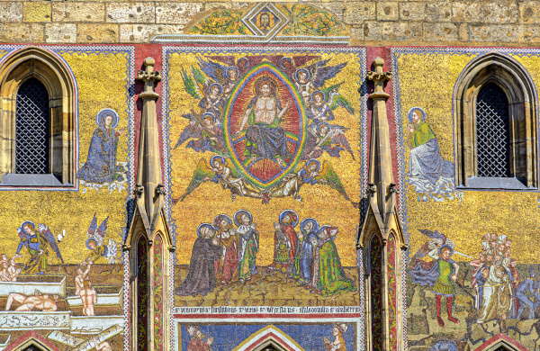 mosaic on cathedral of saint vitus