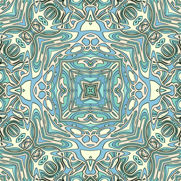 blue teal seamless pattern tile