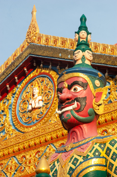 thai style temple guardian in penang