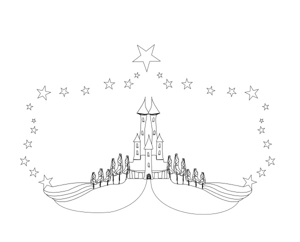 fairytale castle coloring book