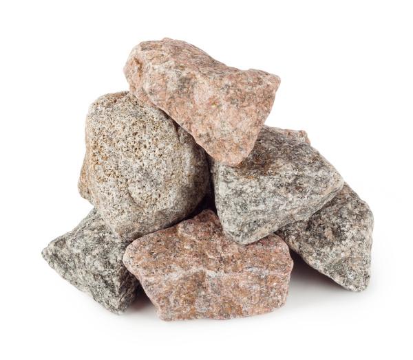pyramid of granite boulders
