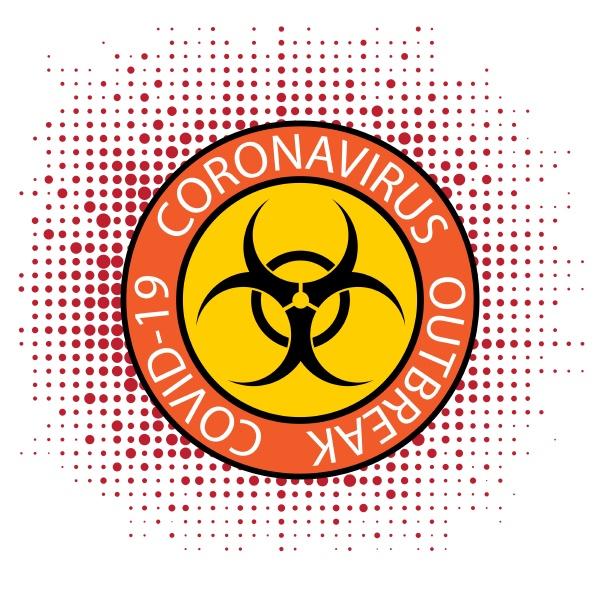 stop pandemic novel coronavirus sign and