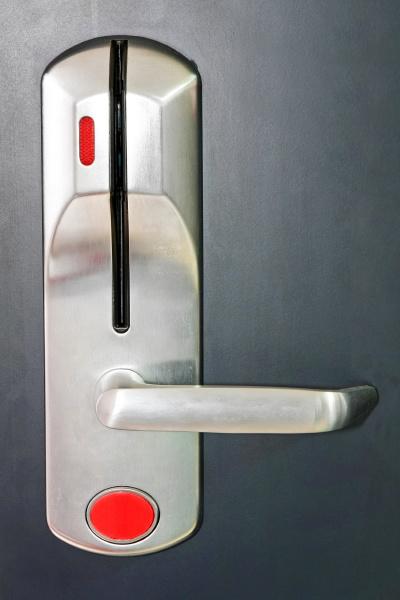 red locked door