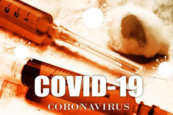 vaccine and syringe injection covid