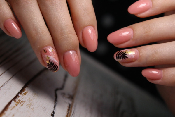 sexy manicure of nails on beautiful