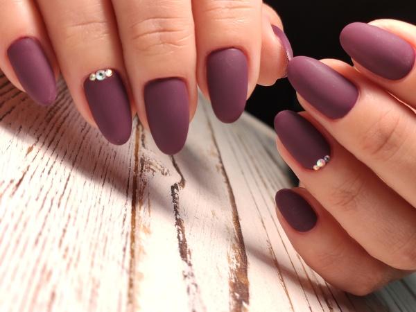fashionable design of manicure on beautiful