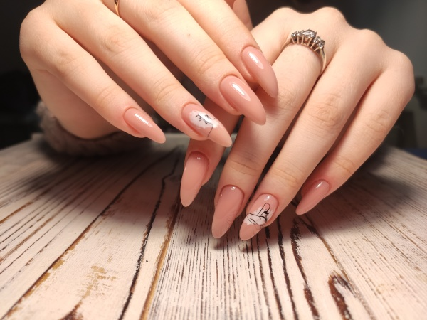 youth manicure design beautiful hands