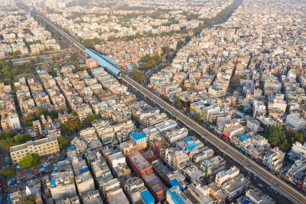 aerial view of new delhi public