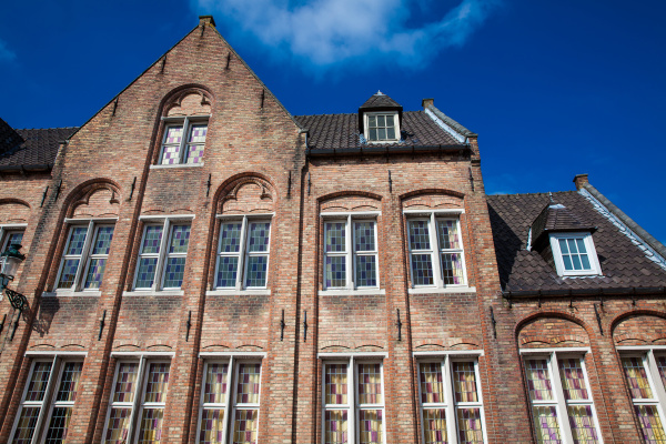 bruges belgium march 2018 houses