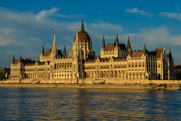 hungarian parliament building in budapest hungary