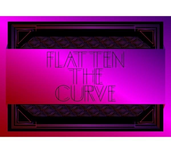 art deco flatten the curve text