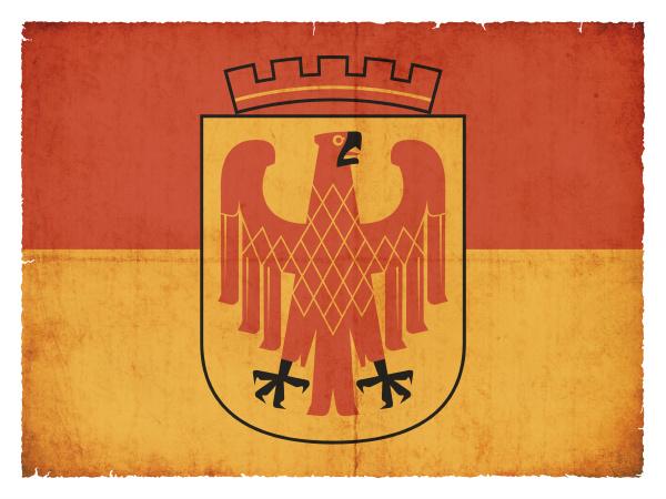 grunge flag of potsdam brandenburg