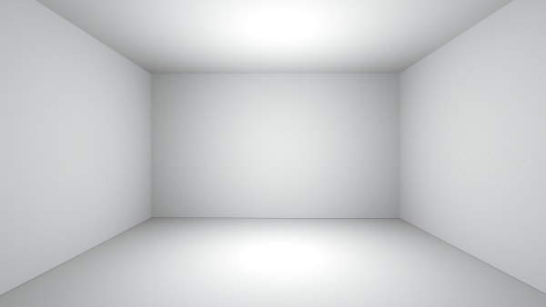 white clean empty room space 3d