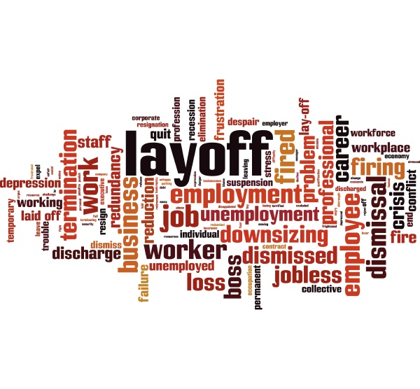layoff word cloud