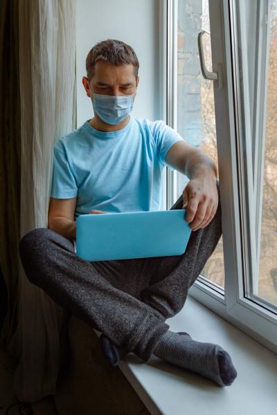 coronavirus concept of work from home