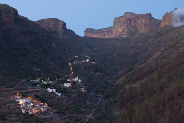 village of el juncal at sunset