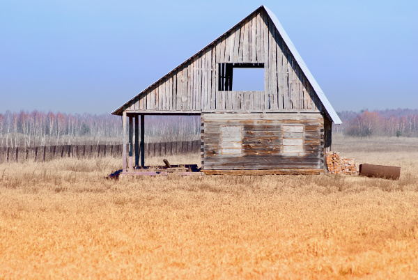 rustic unfinished house