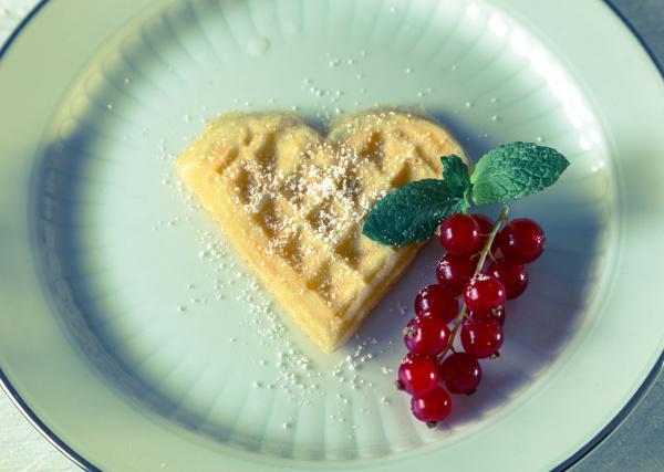 homemade heart shaped waffle