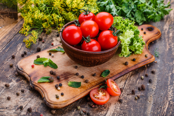 cooking background fresh vegetables and