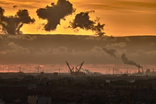 dramatic industrial landscape